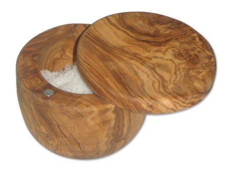 !Giveaway! One-of-a-kind French Olive Wood Handcrafted Salt Cellar + 1 pound of Celtic Sea salt